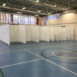 Covid test booths for a London Borough