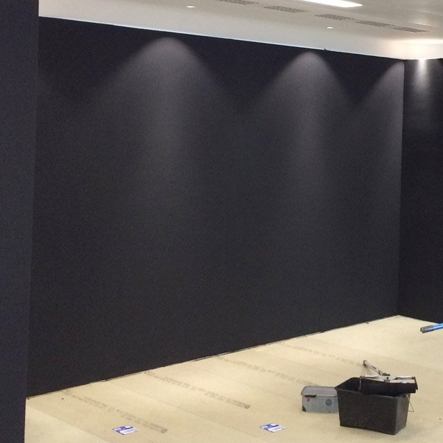 black wall hire panels