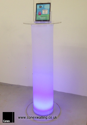 illuminated plinth 80cm tall
