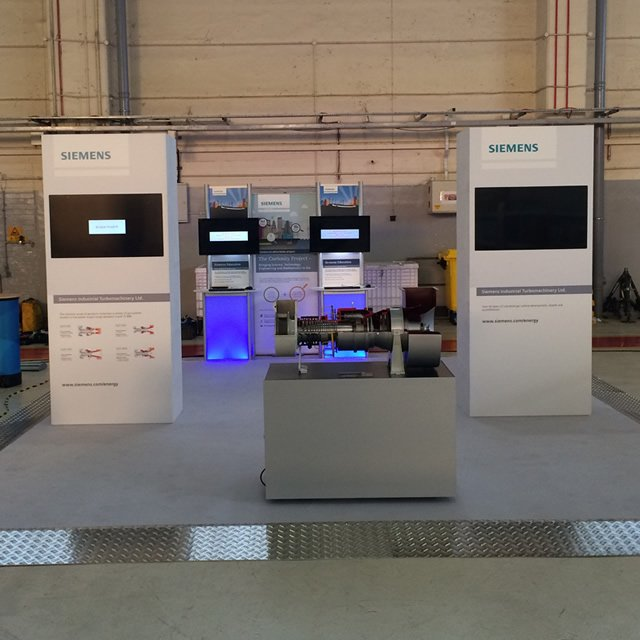 siemens - pop up stand