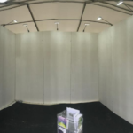 small stand in marquee and yes hid our walls in silk drapes 2